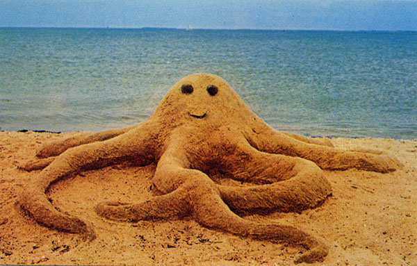 Oscar the Friendly Octopus - Grand Prize Winner of the 1977 Sandcastle Contest